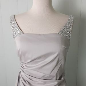 Maggy London silver dress size 8